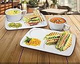 Ceramic Soup & Sandwich Tray Set (2 Pack)