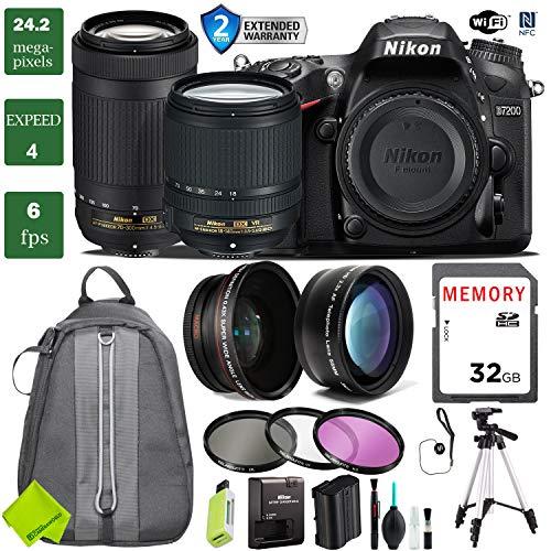 - Nikon D7200 DSLR Camera 18-140mm VR Lens Bundle (18-140mm VR & Nikon 70-300mm, 2 Year Extended Warranty)