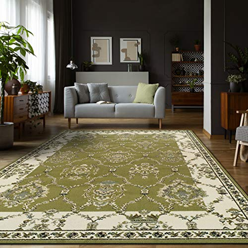 Superior Stratton Collection Area Rug, 8mm Pile Height with Jute Backing, Luxurious French Traditional Aubusson Rug Design, Fashionable and Affordable Woven Rugs - 5' x 8' Rug (Rug Floral Aubusson)