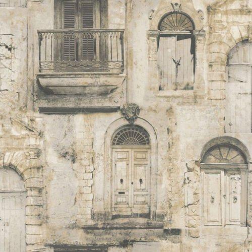 G56438 - Global Fusion Beige Doors Galerie Wallpaper by Galerie