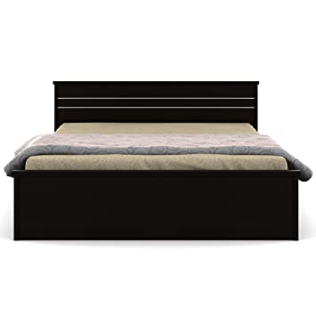 Spacewood Carnival Queen Size Bed Without Storage (Natural Wenge) Gallery