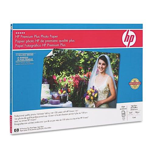 * Premium Plus Photo Paper, 75 lbs., High-Gloss, 11 x 17, 25 Sheets/Pack
