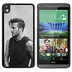 New Beautiful Custom Designed Cover Case For HTC Desire 816 With Sports Good Looking Handsome Beckman Grayscale Phone Case