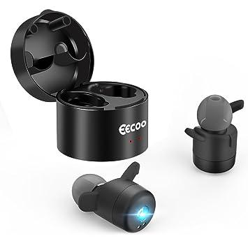 Mini Auriculares Inalámbricos Bluetooth V4.2 Deportivo In-Ear Headset, Tecnología de Estereofonía, Cancelación de Ruido, Earphones con Caja de Carga para ...