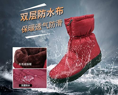 Donna Caldo Trekking Nuovi All'aperto Liangxie Marrone Più Scarpe Stivali Impermeabili Da Neve Velluto qxwvtU8A