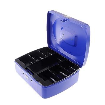 Wei/ß MagiDeal Kleine Metall Aufbewahrungskiste Aufbewahrung Kasten Box Geldkassette mit Codeschloss