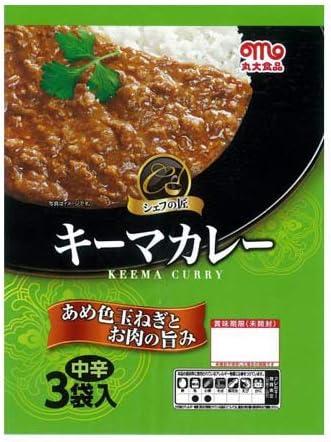 丸大食品 シェフの匠 キーマカレー 中辛 150g 3食入×3個