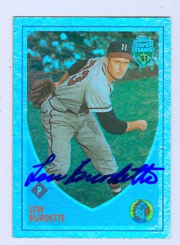 Autograph Warehouse 74978 Lou Burdette Autographed Baseball Card Milwaukee Braves 2002 Topps Super Teams No .38 (2002 Topps Chrome Baseball)