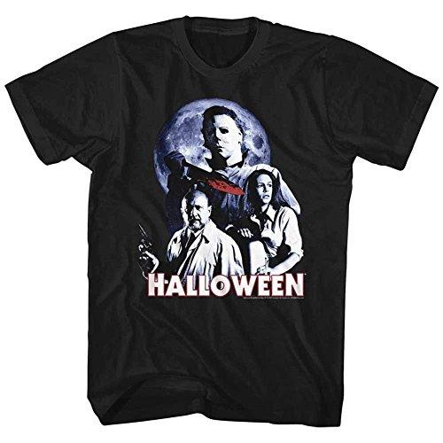 A&E Designs Halloween Shirt Movie Stars T-Shirt (3XL, Black)