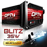 98 ford escort hid kit - Blitz 35w 9007 Hi-Lo HID Kit - Relay Bundle - All Bulb Sizes and Colors - 2 Yr Warranty [8000K Ice Blue Xenon Light]