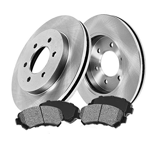 [ Pickup SUV Series ] FRONT 287 mm Premium OE 6 Lug [2] Brake Disc Rotors + [4] Metallic Brake Pads