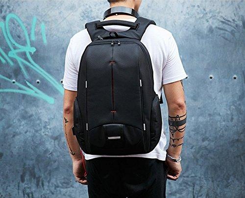 Mefly Los hombres impermeable Mochila para portátil de 15,6 pulgadas de los viajes de negocios de moda Mochila para portátil Negro Mochila escolar,Negro,China,15 pulg. China,15 Inch