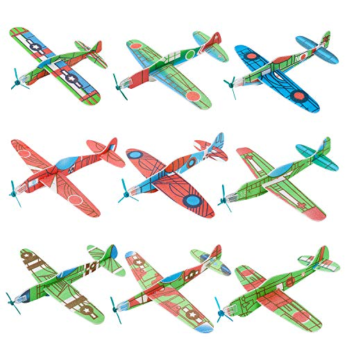 kizh Flying Glider Planes, 36 Pack 8 inch Throwing Foam Airplane Birthday Party Favor Plane Flying Aircraft Easy Assembly Best Outdoor Fun for Kids Children Boys Girls Random Color by kizh (Image #5)
