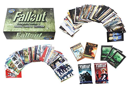(Fallout Trading Cards Series 1 Complete Base Set with Bonus Cards and Packs)
