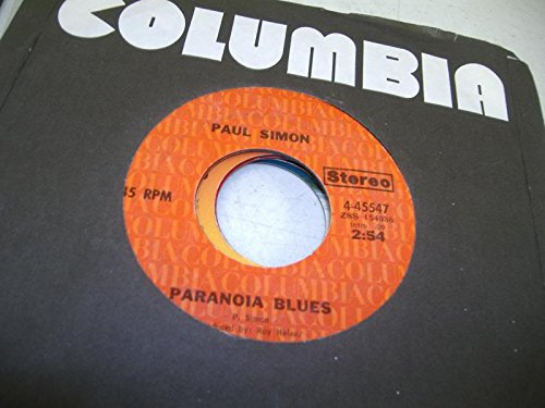 PAUL SIMON 45 RPM Paranoia Blues / Mother And Child Reunion