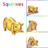 Squishys Toys, ZOMUSAR Golden Pig Scented Squishies Slow Rising Kids Stress Relief Toy (Gold)