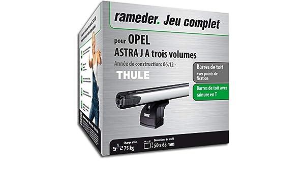 Kit completo Rameder, barras de techo slidebar para Opel Astra J a tres Volumes (115141 - 10351 - 4-fr): Amazon.es: Coche y moto