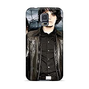 High Quality Mobile Case For Samsung Galaxy S5 With Custom Colorful My Chemical Romance Band Pattern AlissaDubois