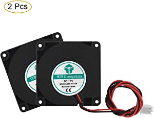Twotrees Cooling Fan 3D Printer Fan Cooler Turbo 12V DC 2 Pin, 50 x 50 x 15mm 3D Printer Accessories (Turbo, 12V)