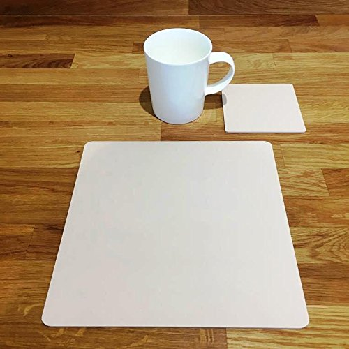 Square Placemat and Coaster Set - Latte - Set of 6 - Large by ServeWell