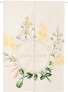 """Garden Rose Wildflower Wreath Japanese Home Restaurant Noren Door Curtain Doorway Drapes Room Divider, 33.4"""" x 47.2"""""""