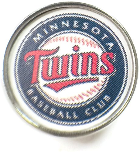 Minnesota Twins Charm (Fashion Snap Jewelry MLB Logo Minnesota Twins 18MM - 20MM Jewlery Snap Charm)