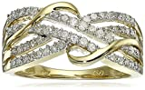 10k Yellow Gold Diamond Ring (1/3 cttw, H-I Color, I1-I2 Clarity), Size 8