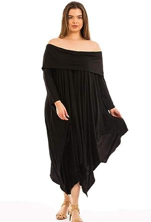 Off Shoulder Handkerchief Hem Dress