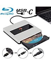 External Bluray Drive USB3.0 NOLYTH USB C External Blu Ray Player Burner Drive for Laptop/MacBook Air/Pro/PC/Windows10