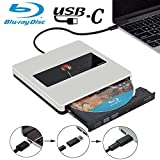 USB C External Bluray Drive NOLYTH USB3.0 External Blu-Ray Drive Burner Player for MacBook Pro/Air/Mac/Laptop/Windows 10