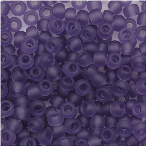 - Toho Round Seed Beads 8/0#19F 'Transparent Frosted Sugar Plum' 8 Gram Tube