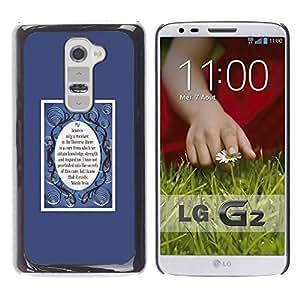 Be Good Phone Accessory // Dura Cáscara cubierta Protectora Caso Carcasa Funda de Protección para LG G2 D800 D802 D802TA D803 VS980 LS980 // mirror purple poster tesla quote inspirin