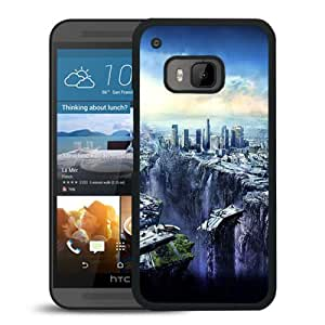 New Custom Designed Cover Case For HTC ONE M9 With Post Apocalyptic Cityscape Fantasy Mobile Wallpaper Phone Case