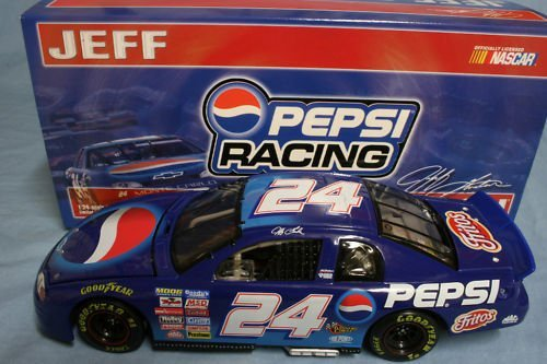 - 1999 Jeff Gordon #24 Pepsi Clear Window Bank Car Monte Carlo 1/24 Scale Diecast Opening HoodLimited Edition Action Racing Collectables ARC of America RCCA