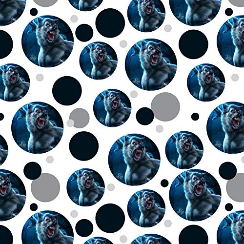 GRAPHICS & MORE Crazy Scary Werewolf Monster Premium Gift Wrap Wrapping Paper Roll