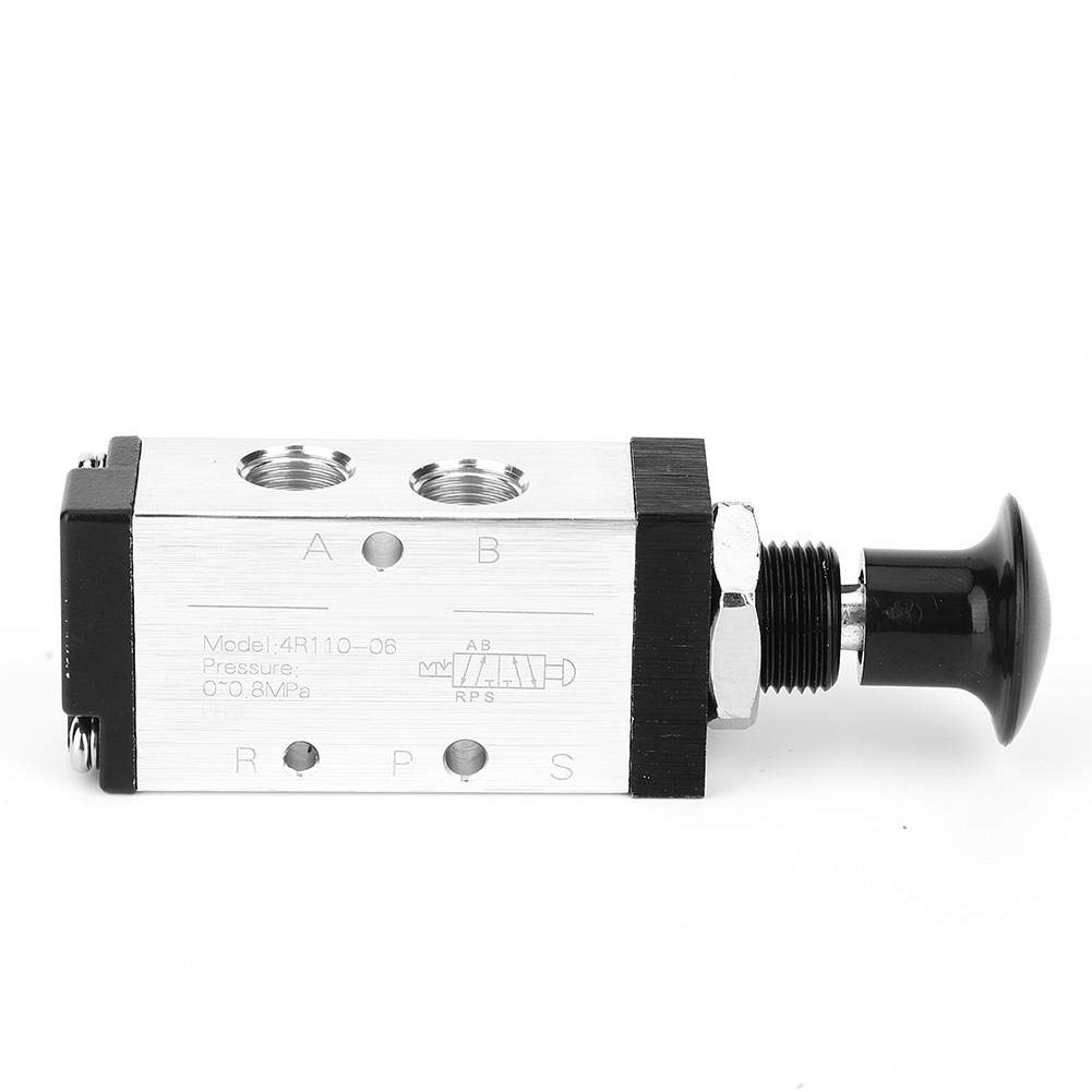 4R110-06 2 Position 5 Way Solenoid Valve Pneumatic Hand Lever Solenoid Switch 0~0.8MPa