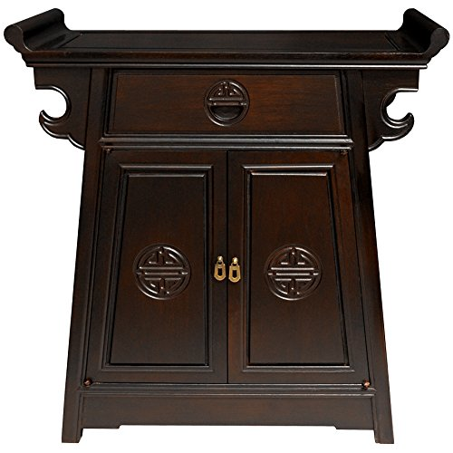 Oriental Furniture Rosewood Altar Cabinet -