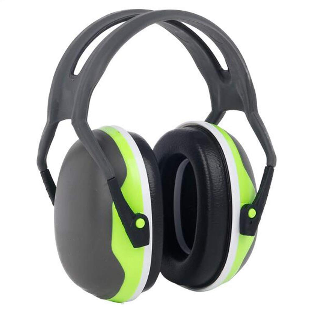 Protective Earmuffs, Adult Noise Elimination Acoustic Earmuffs Hearing Protection Ear Defender Shooting Learning Labor Insurance Soundproof Headphones (Color : Green) by LW DDT