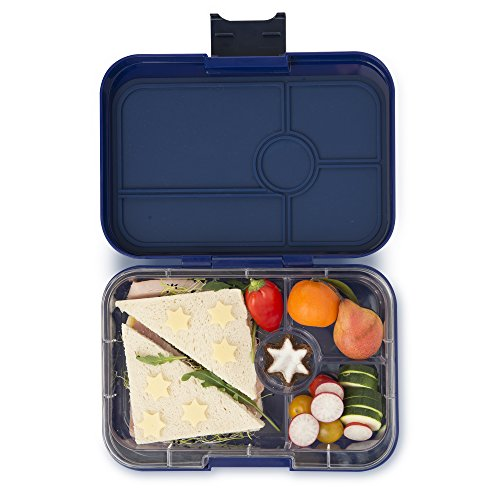 YUMBOX TAPAS Larger Size (Portofino Blue) 4 compartment Leakproof Bento lunch box for Pre-teens, Teens & Adults