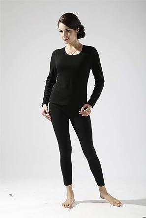 Ropa Interior térmica para Mujer Camisa de Manga Larga para Mujer Otoño Invierno Camisa Femenina + pantalón Grueso cálido más Terciopelo Ropa de Alta Elasticidad: Amazon.es: Ropa y accesorios