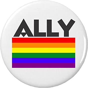 droites Alli/és Pride Gay LGBT Drapeau badge /à /épingle en m/étal