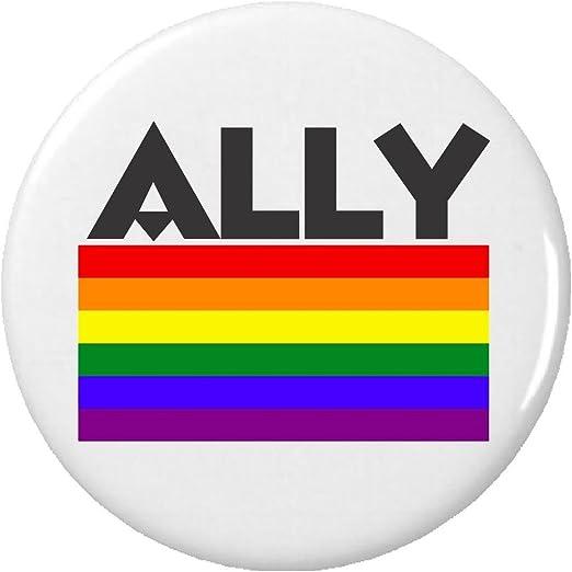 Amazon Ally Lgbt Lesbian Gay Pride Flag Pinback Button Pin