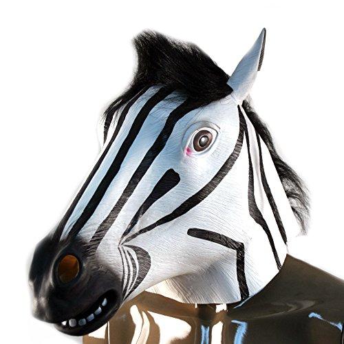 Zebra Mask : Latex Animal Mask