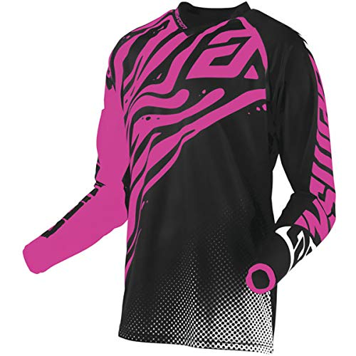 (Answer Racing A19.5 Syncron Flow Women's Off-Road Motorcycle Jersey - Pink/Black/White/Large)