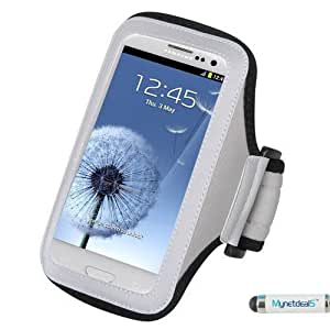 Premium Sport Armband Case for ZTE Blade V6 - Gray (Grey) + MYNETDEALS Mini Touch Screen Stylus