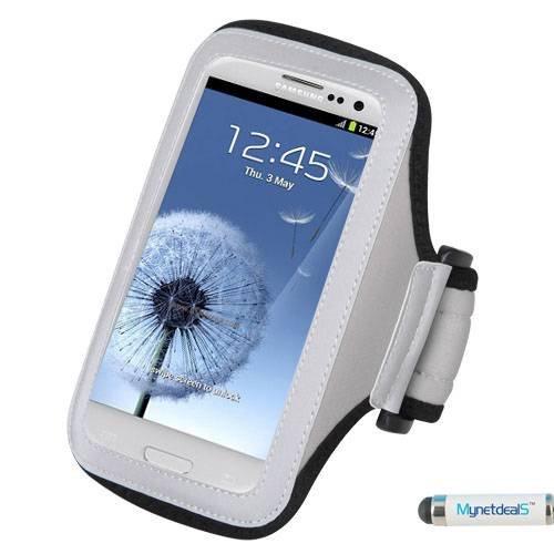 MyNetDeals Funda Pulsera Deportivo ASUS PadFone X, Amazon Fire Phone Desfiante COOLPAD Catalizador Quattro 4G, Gris