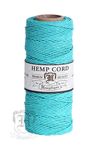 - TEAL 1mm Polished Hemp Twine Hemptique Cord Macrame Bracelet Thread Artisan String 20lbs (205ft Spool)