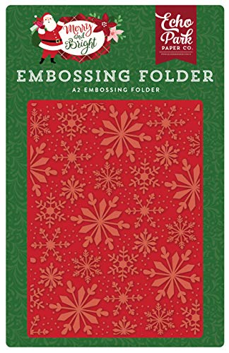 Echo Park Paper Company MB160032 Frosted Snowflakes Embossing Folder red, Green, Pink, Black, Gold, Mint ()