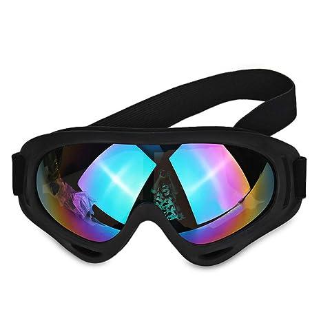 Negro Off Road Gafas de Moto Gafas de Lente Polvo ...