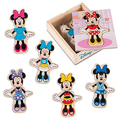 Melissa & Doug Disney Minnie Mouse Mix and Match Dress-Up Wooden Play Set (18 Pieces, Great Gift for Girls and Boys - Best for 3, 4, 5, and 6 Year Olds): Melissa & Doug: Toys & Games